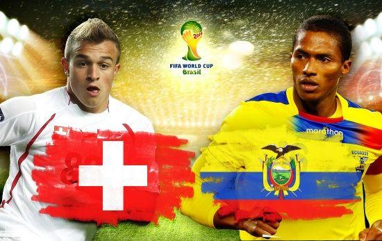 Tường thuật trực tiếp: Thụy Sĩ - Ecuador (23h00 - 15/6)