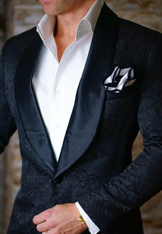 S by Sebastian Dinner Jacket Black Paisley
