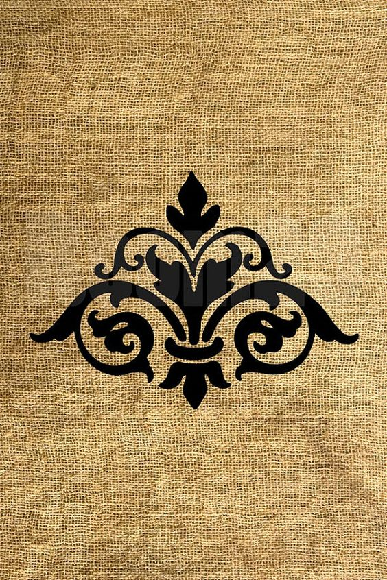 Instant Stencils For Walls : Instant download big damask and print image by