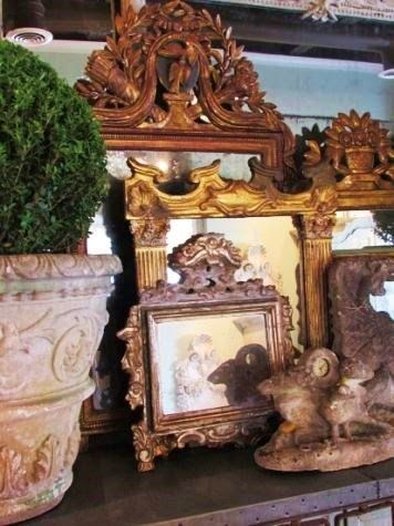 Make a tiny vignette w/ frames & planters on dresser or table.    rue 27 maison: March 2014