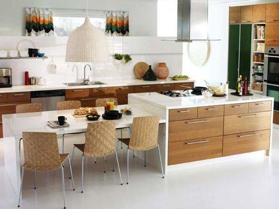 holz arbeitsplatten machen die moderne küche gemütlich ? ragopige.info - Moderne Kche Gemtlich