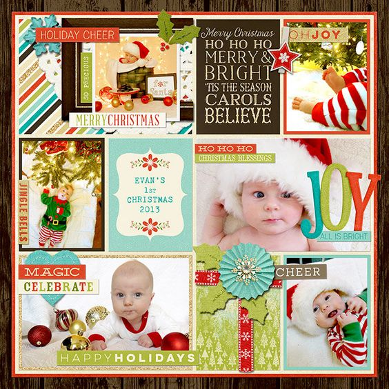 Santa Baby: Evan's First Christmas- by amymarieschn - Scrapbook.com - CREDITS: Memorable: Christmas collection by KCB and Zoe Pearn at Sweet Shoppe Designs