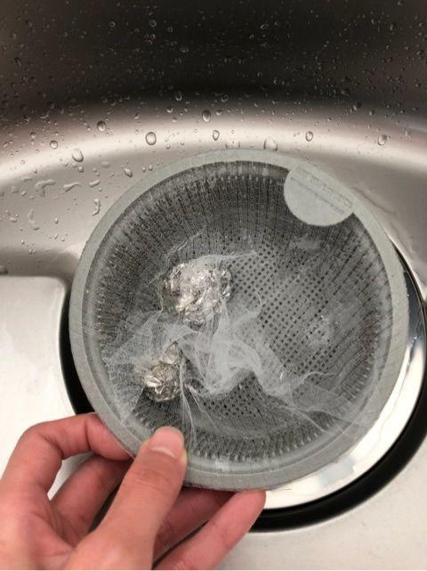 キッチンのお掃除 シンクの排水溝 お掃除 掃除 排水溝