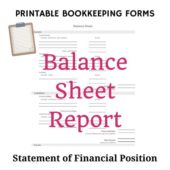 Business Balance Sheet Template by @Graphicsauthor Templates - opening balance sheet template