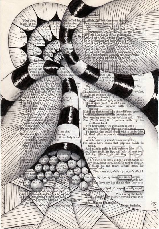 #Zentangle inspired found poetry page