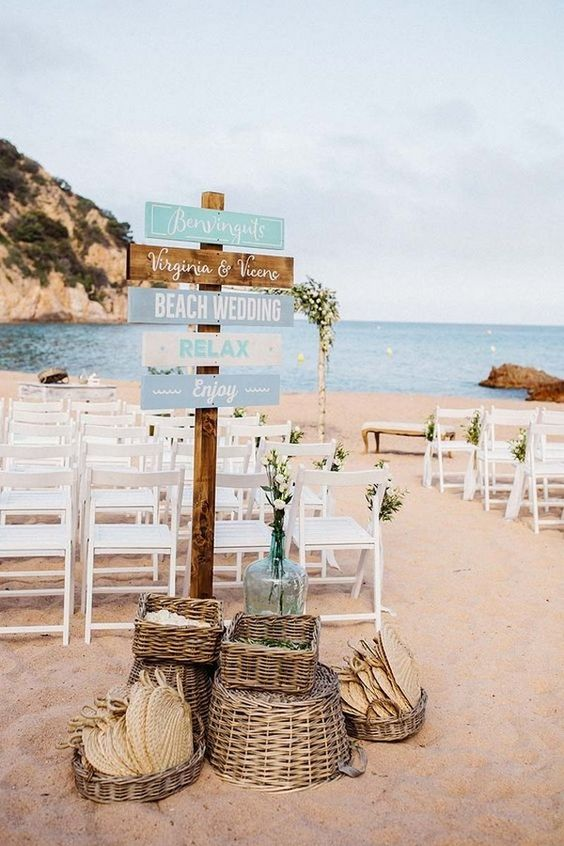 chic rustic beach wedding ceremony ideas