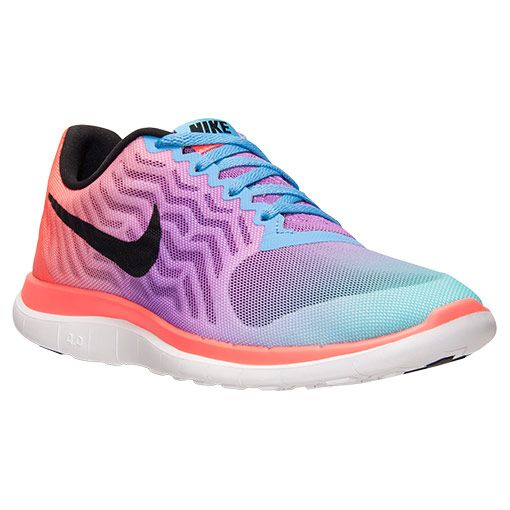 Women\u0026#39;s Nike Free 4.0 V5 Print Running Shoes - 729515 101 | Finish Line