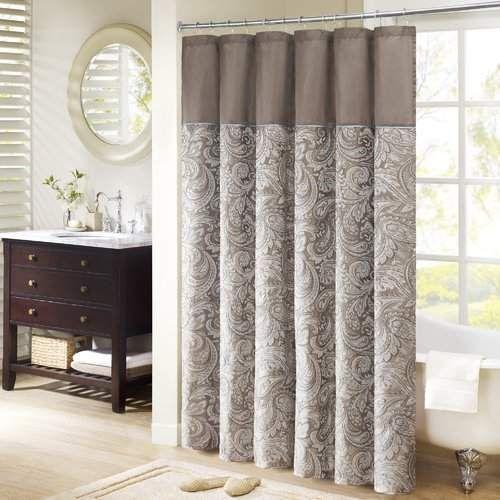 Alcott Hill Pokanoket Jacquard Shower Curtain Extra Long Shower