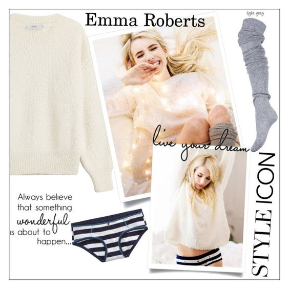 """""""Style Icon: Emma Roberts"""" by danielle-487 ❤ liked on Polyvore featuring Closed, Aerie and styleicon"""