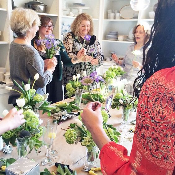 #tbt to our April floral arranging event with #milwaukeeflowerco - there are still spots left for our upcoming workshop on July 18!  call the store today to reserve your spot!