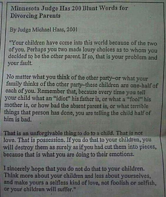 (very important) divorce: children