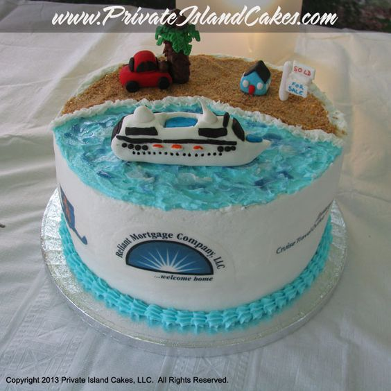 Cruise Ship Mortgage Company And Insurance Agent Cake