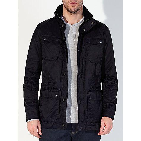 Buy John Lewis Cotton Blend Four Pocket Jacket, Navy Online at johnlewis.com