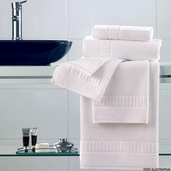 Toalha de Banho Branca Agnes Care - Karsten - PortCasa