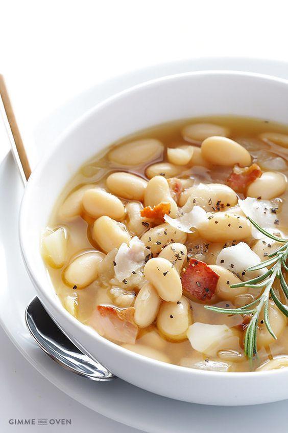 Toskanische weiße-Bohnen-Suppe | 23 super leckere Gerichte, die Du schnell zubereiten kannst