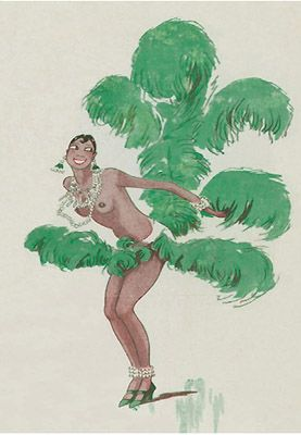 josephine baker - I think this illustration may be by Henry Fournier in  La Souire magazine 1926