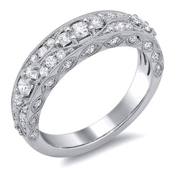 1.26 carats Diamond Engagement Band set on 14K by NatureDiamonds, $1990.00