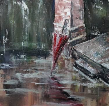 """Saatchi Art Artist Olga-Andreea Ceaglei; Painting, """"umbrella"""" #art"""