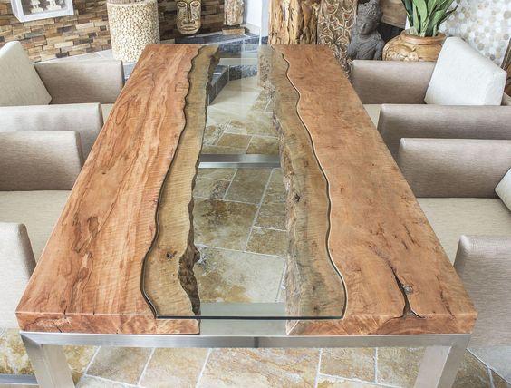 Der tischonkel designertisch massivholztisch mit glas for Design massivholztisch