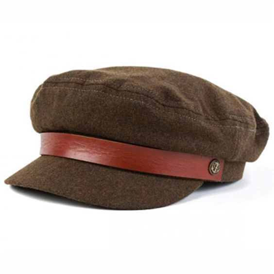 Fiddler olive/brown leather band cap Brixton