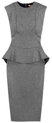 charcoal-gray peplum from Victoria Beckham
