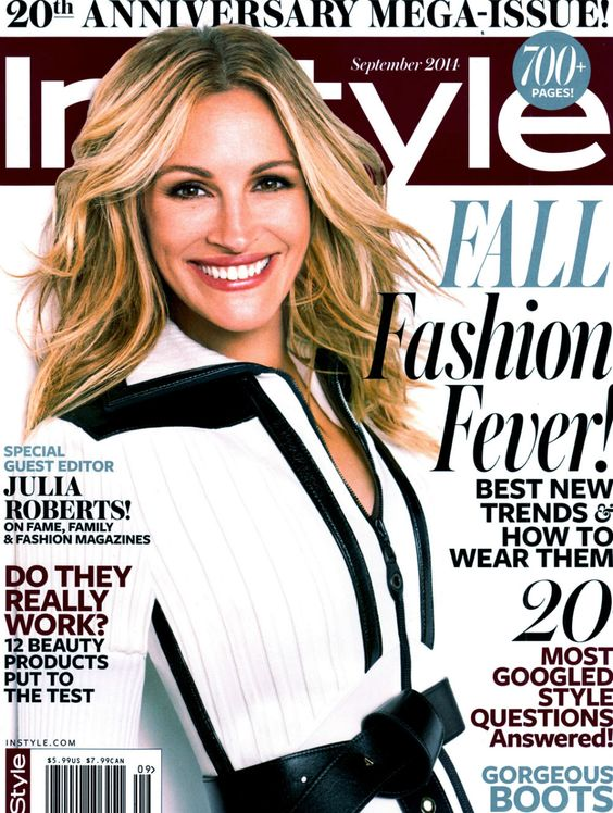 #JuliaRoberts by Michelangelo Di Battista for the cover of #InStyleUS September 2014