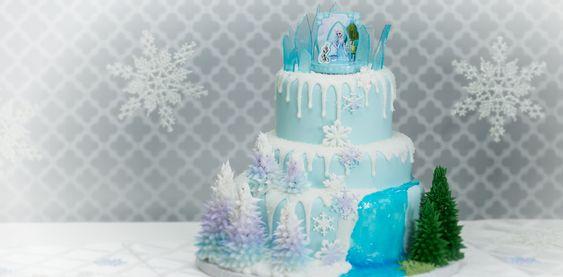 How-To Make a Three-Tier Frozen Birthday Cake