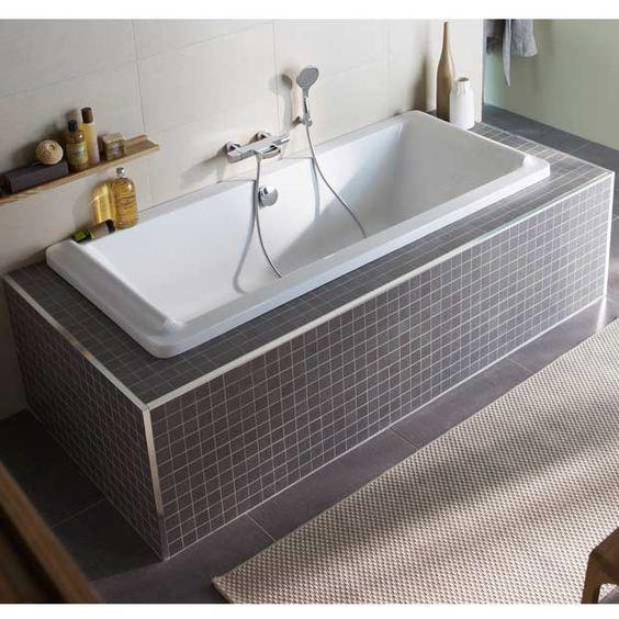 baignoire droite acryl les baignoires droites lapeyre