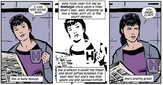 Kate Bishop. Just…Kate Bishop. | Community Post: 24 Reasons Why You Should Be Reading Matt Fraction's Hawkeye:
