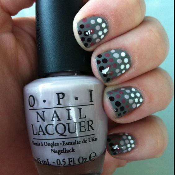 Polka dot nails!