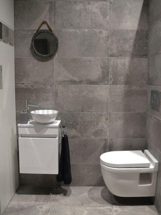 Betonlook badkamer beton vloer betonlook tegels hout wit betonlook idee n betonlook - Inrichting van toiletten wc ...