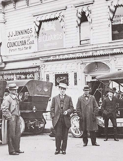 Charlie Chaplin touring America in 1912