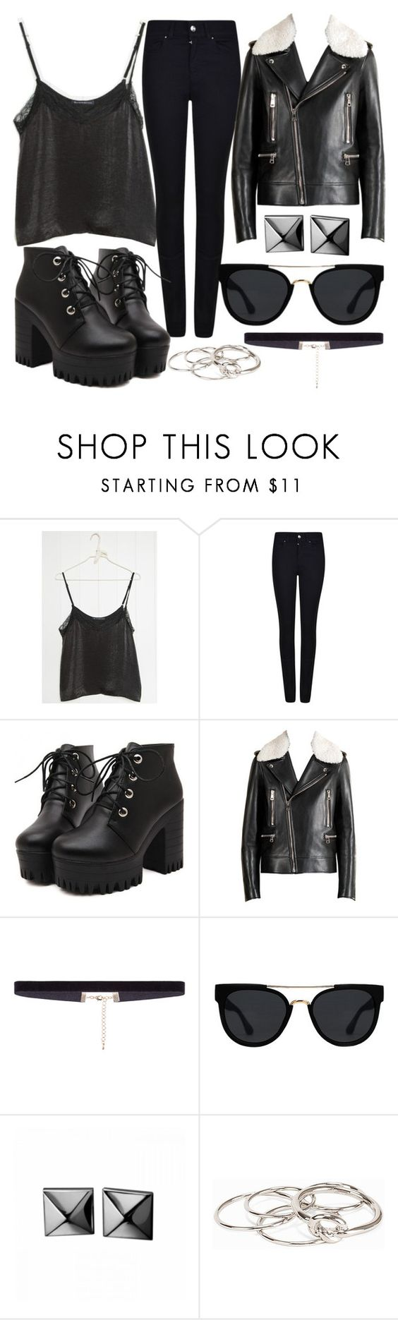 """Untitled #512"" by hellen-muniz ❤ liked on Polyvore featuring Charli, Armani Jeans, Gucci, Quay, Waterford and Pieces"