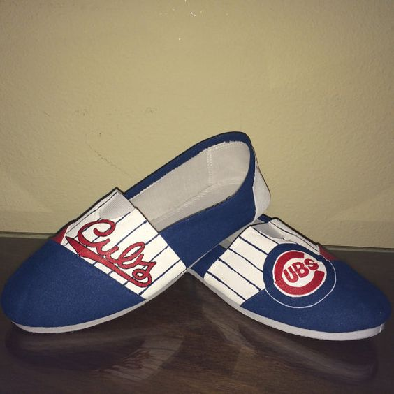 Chicago Cubs theme women's shoes Toms available by GetSpiritShoes