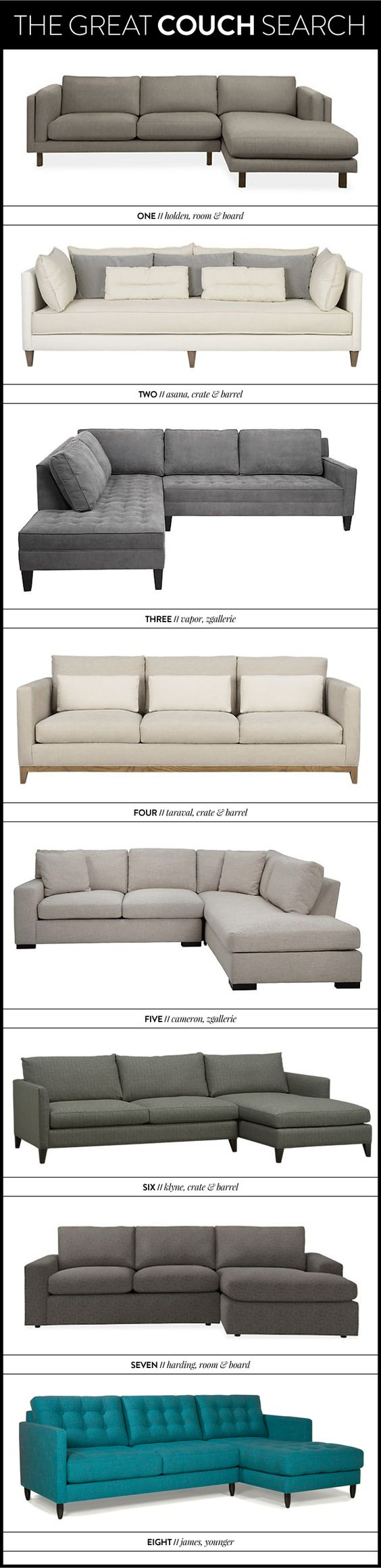 THE GREAT COUCH, SOFA, SECTIONAL SEARCH - MegBiram.com