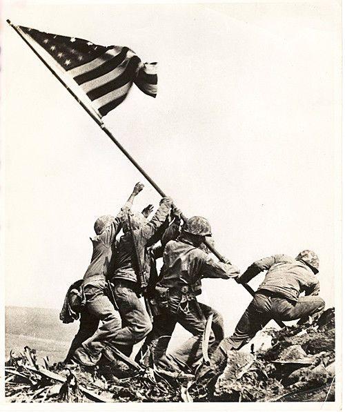 Original 1945 Iwo Jima Flag Raising Vintage Wwii Usmc Military Press Photo Iconic Photos Iwo Jima Flag Iwo Jima