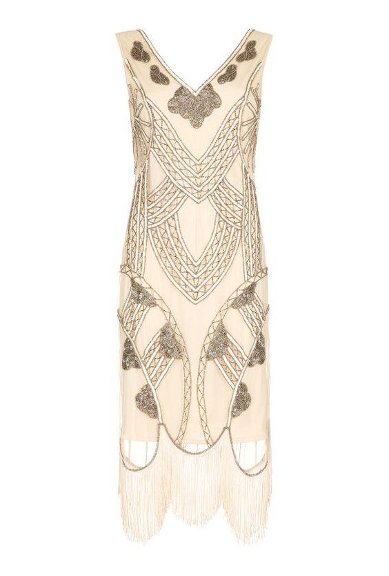 Juliet-Nude Blush Kleid Vintage 20er Jahre von Gatsbylady auf Etsy