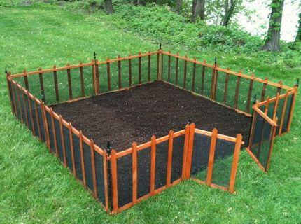 Diy garden fence ideas terra garden fence click pic for Vegetable garden fence plans