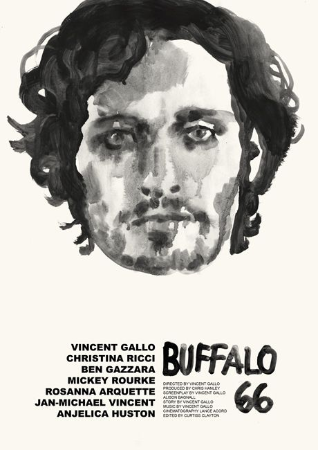Tony Stella's poster for Vincent Gallo's Buffalo '66 (1998).