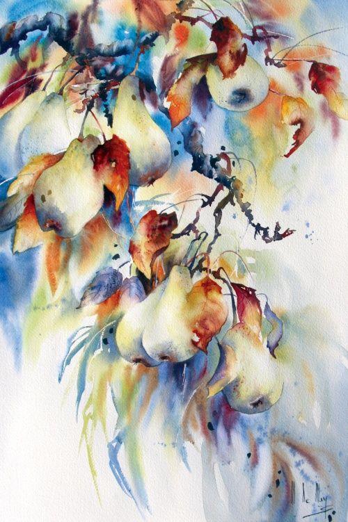 Galerie D Aquarelles Maryse De May Peinture Acrylique