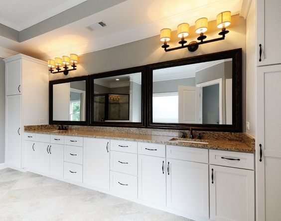 Classic baths bath cabinets and white paints on pinterest for Merillat white kitchen cabinets