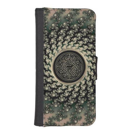 Taupe Celtic Fractal Wallet Phone Case   #Celtic  #fractal  #iPhone  #Galaxy