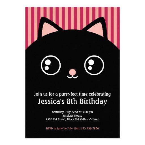 Nealon Design KITTYCAT Birthday invitation – Cat Birthday Invitations