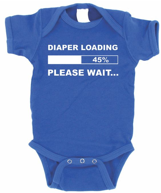 DIAPER LOADING BABY ONE PIECE INFANT APPAREL