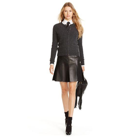 Lederrock mit Falten - Röcke & Skorts Damen - Ralph Lauren Deutschland