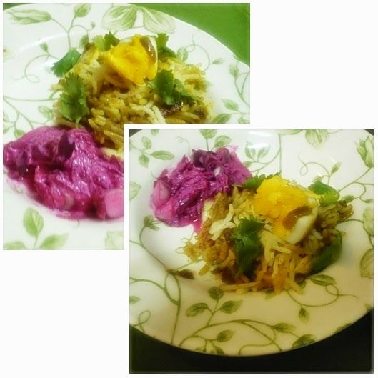 Abby's Spice Kitchen: Egg Biryani and Beetroot Raita