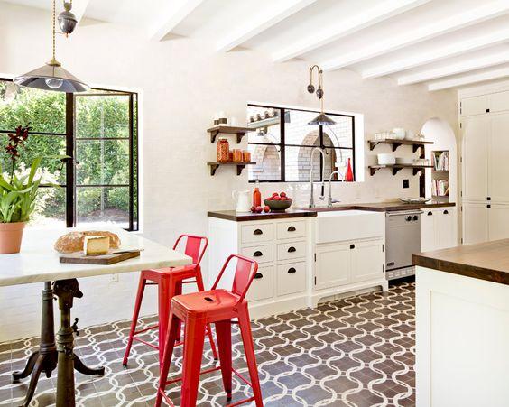 kitchen: White Kitchen, Mediterranean Kitchen, Jessica Helgerson, Kitchen Design, White Brick