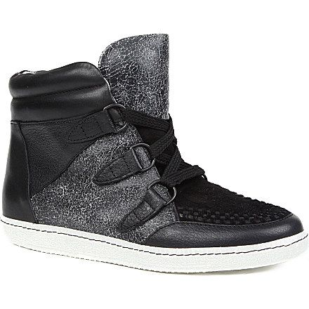 SANDRO Amandine high-top trainers (Black