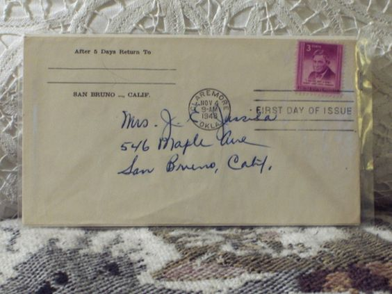 http://ajunkeeshoppe.blogspot.com/   First Day Issue / Cover - Stamp - Will Rogers 1948 3c 8ozP725B4HP1167