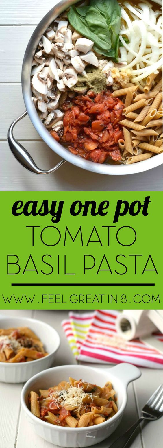 Easy One Pot Tomato Basil Pasta | Recipe | It is, One pot pasta and ...